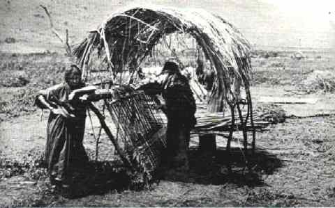 Weaving Reed Mats near Tiberias, 1894